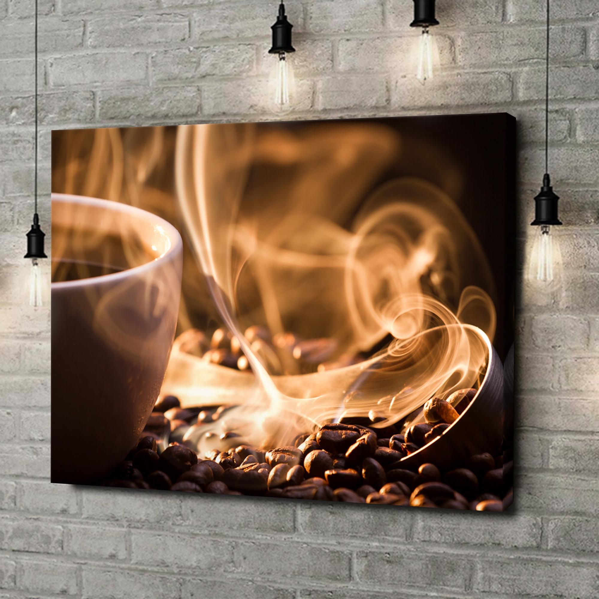 Leinwandbild personalisiert Duftende Kaffeebohnen