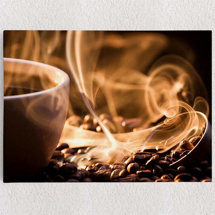 Personalisiertes Leinwandbild Duftende Kaffeebohnen