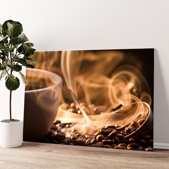 Duftende Kaffeebohnen Wandbild personalisiert