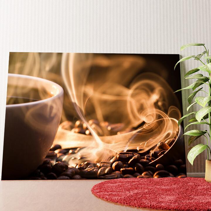 Personalisiertes Wandbild Duftende Kaffeebohnen