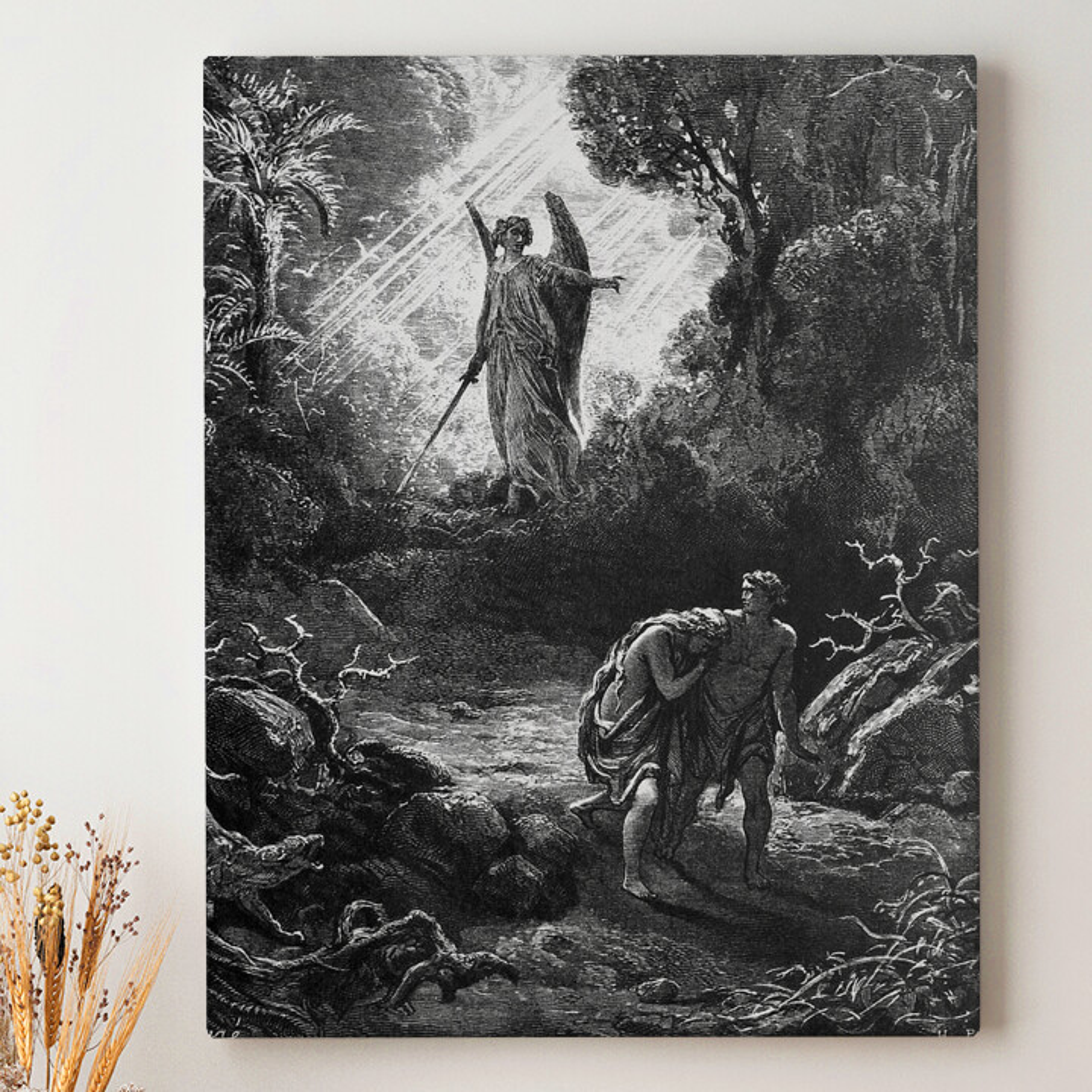 Leinwandbild personalisiert Adam und Eva im Paradies