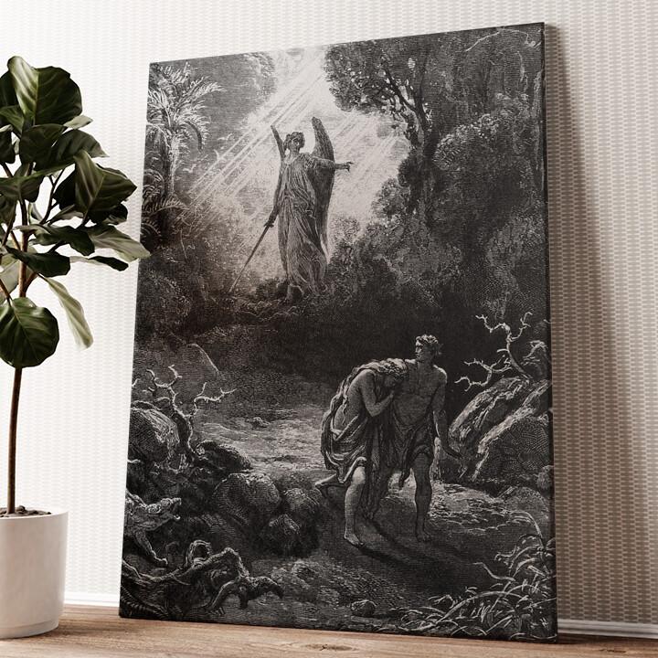 Adam und Eva im Paradies Wandbild personalisiert