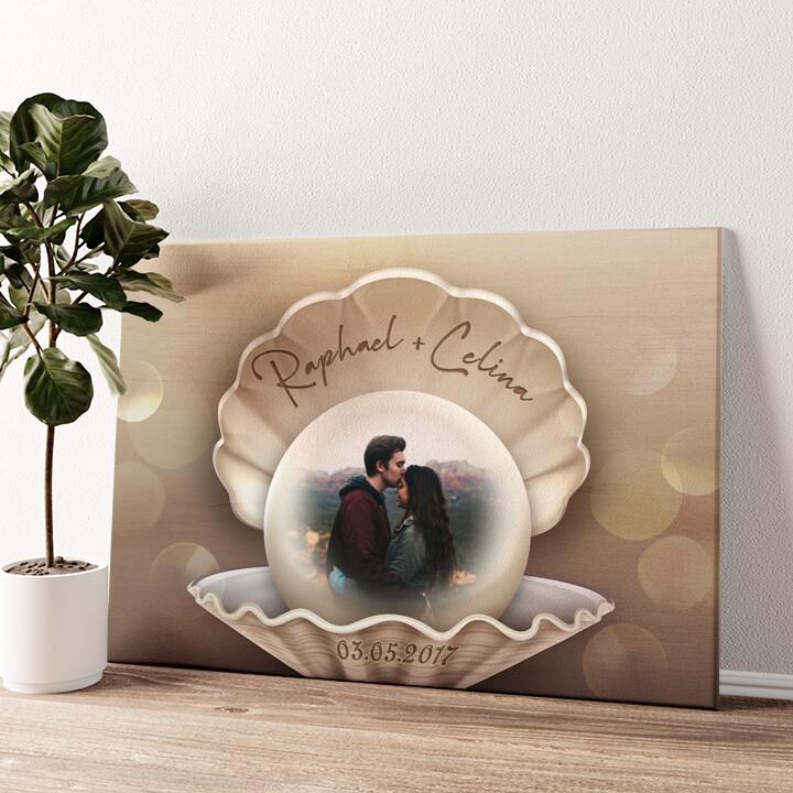 Glücksperle Wandbild personalisiert
