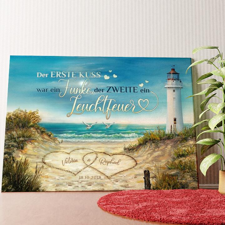 Personalisiertes Wandbild Leuchtfeuer der Liebe