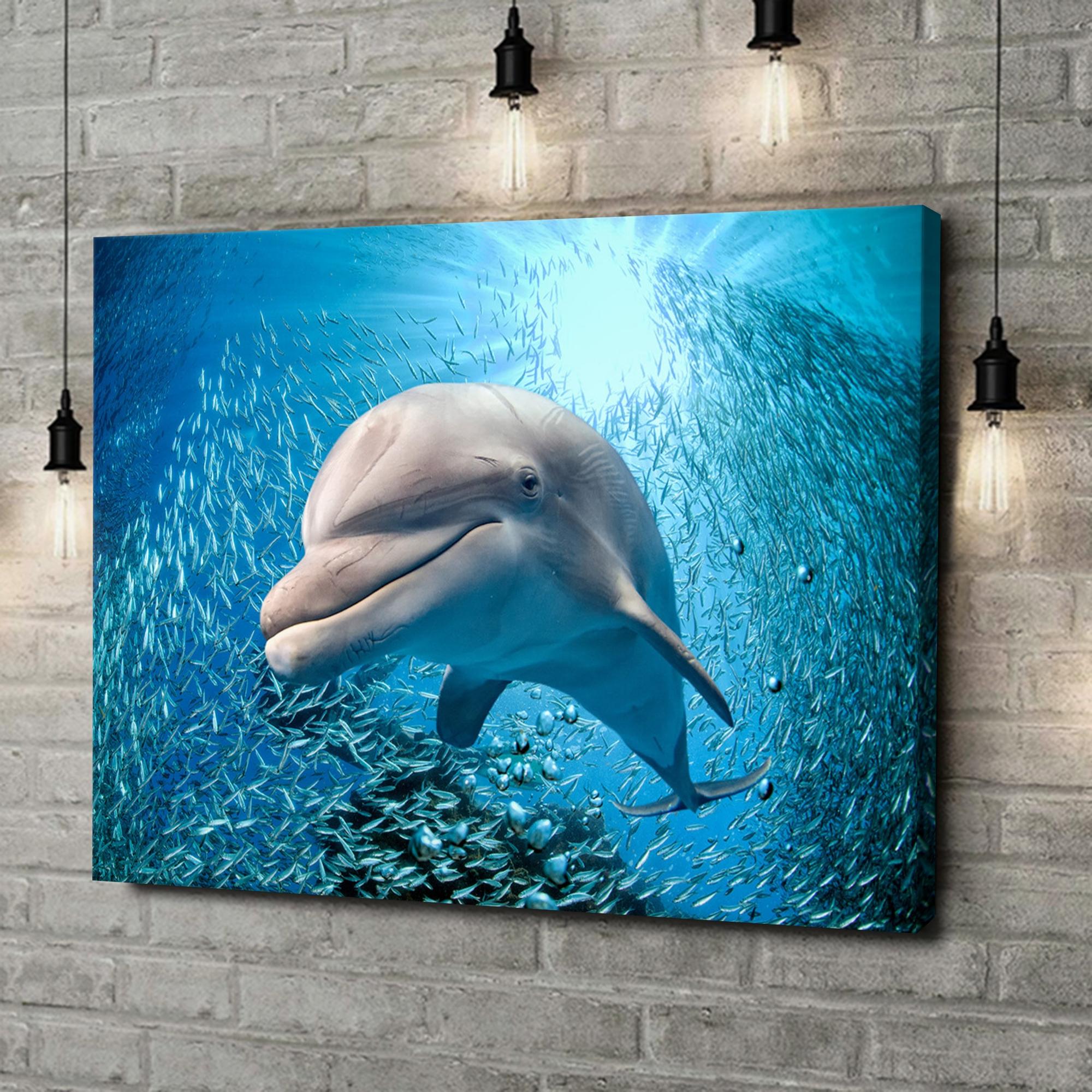 Leinwandbild personalisiert Delfin im Meer