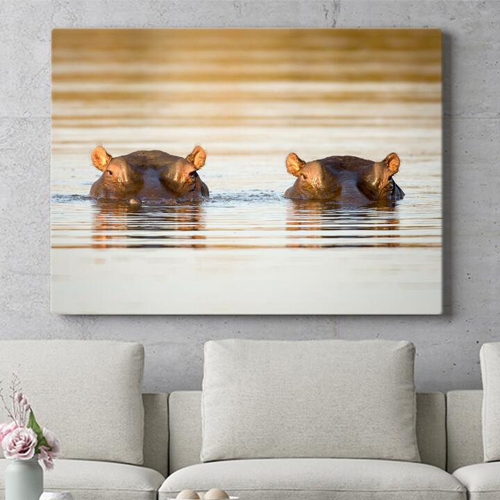Personalisierbares Geschenk Nilpferd Krüger Nationalpark