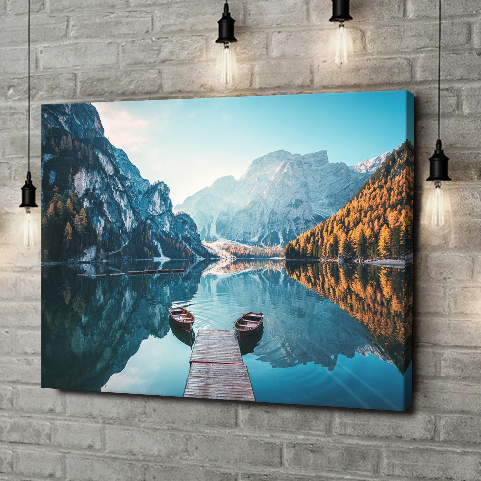 Leinwandbild personalisiert Pragser Wildsee Südtirol Italien