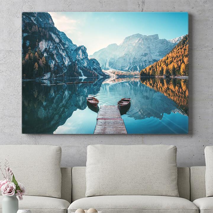 Personalisierbares Geschenk Pragser Wildsee Südtirol Italien