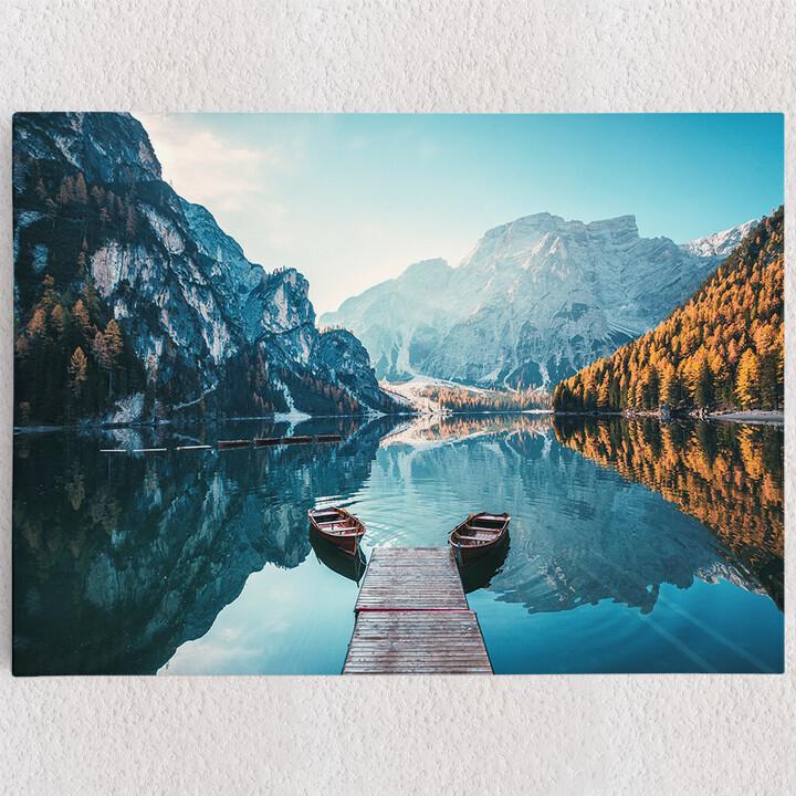 Personalisiertes Leinwandbild Pragser Wildsee Südtirol Italien