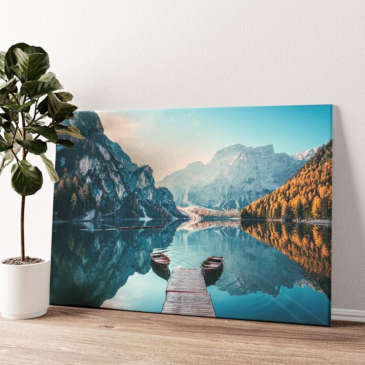 Pragser Wildsee Südtirol Italien Wandbild personalisiert