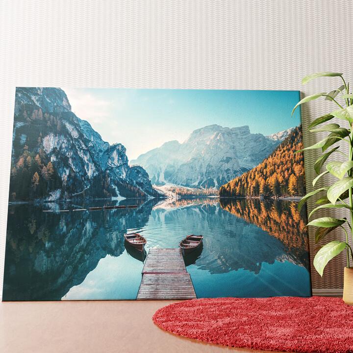 Personalisiertes Wandbild Pragser Wildsee Südtirol Italien