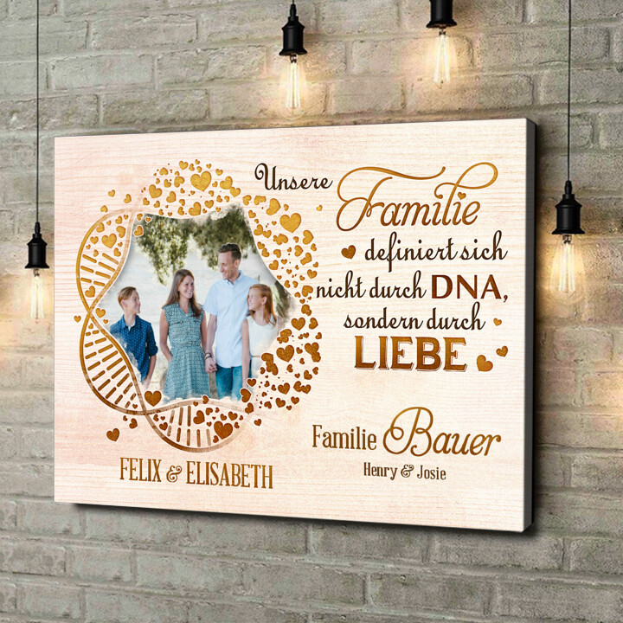 Leinwandbild personalisiert Familien-DNA