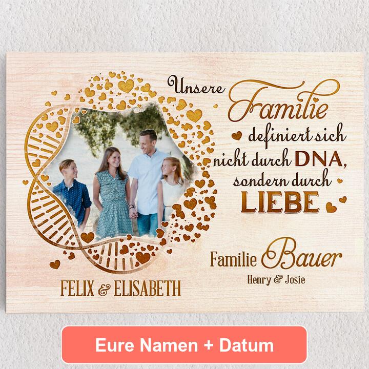 Personalisiertes Leinwandbild Familien-DNA