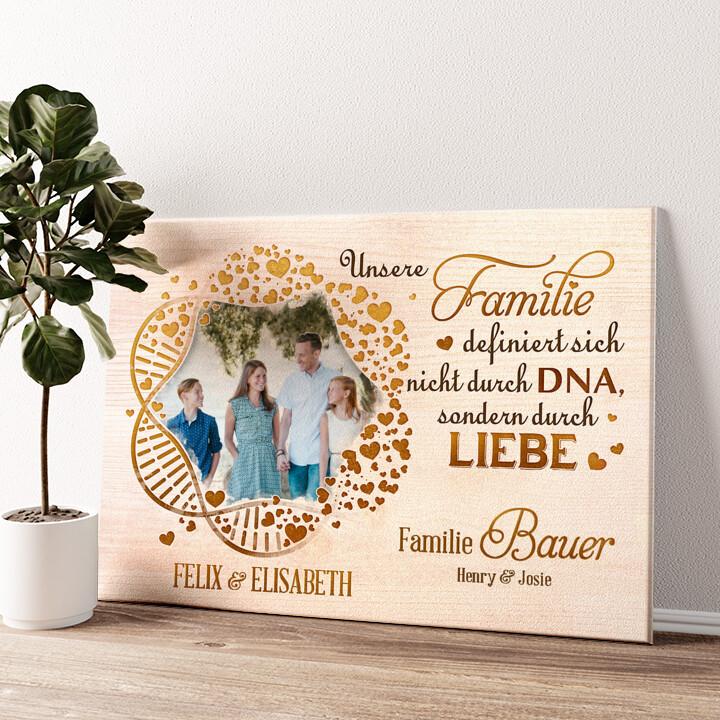 Familien-DNA Wandbild personalisiert