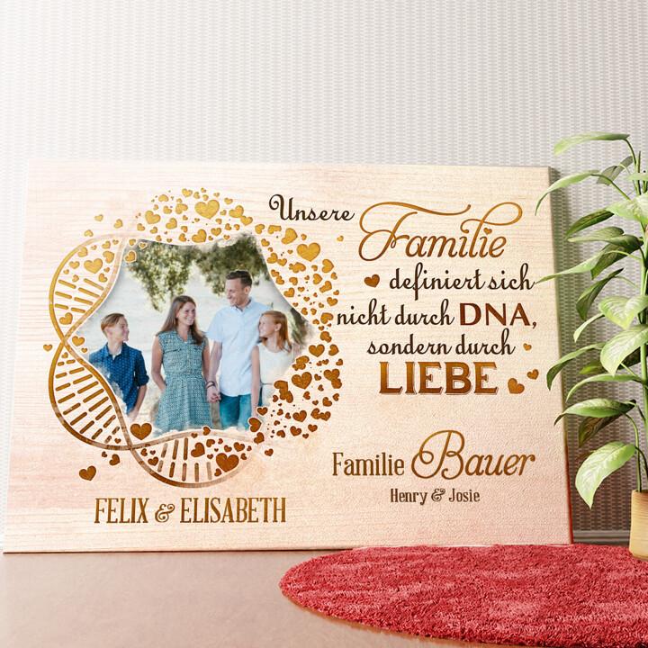 Personalisiertes Wandbild Familien-DNA