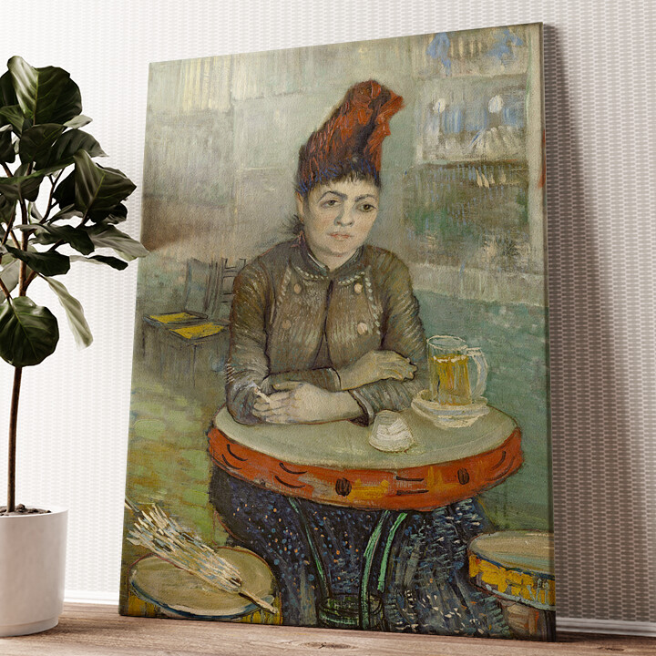 Agostina Segatori im Café Tambourin Wandbild personalisiert