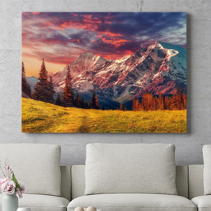 Personalisierbares Geschenk Gebirgslandschaft Alpen