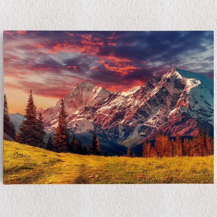 Personalisiertes Leinwandbild Gebirgslandschaft Alpen