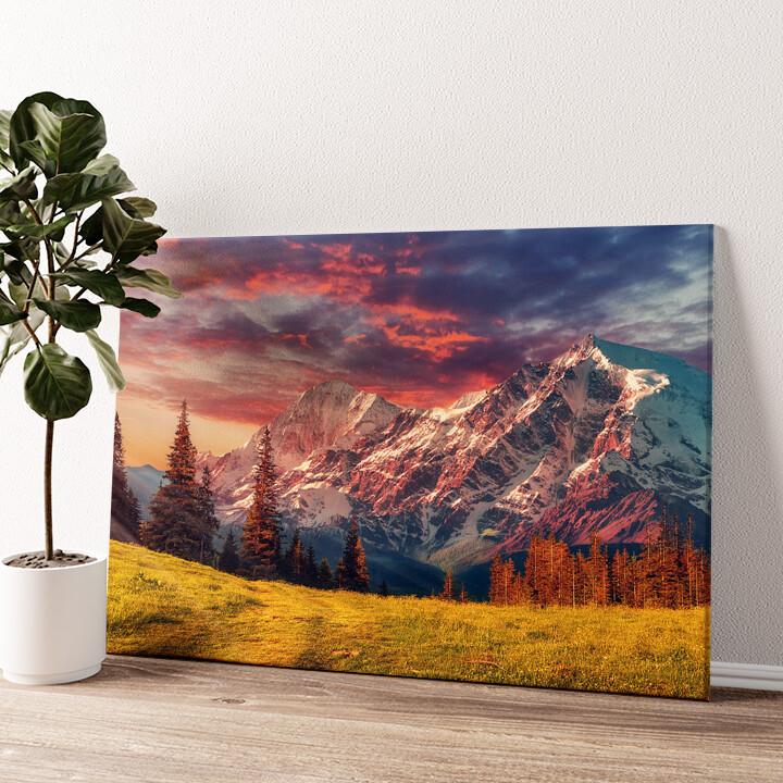 Gebirgslandschaft Alpen Wandbild personalisiert