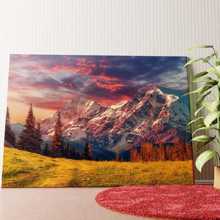 Personalisiertes Wandbild Gebirgslandschaft Alpen