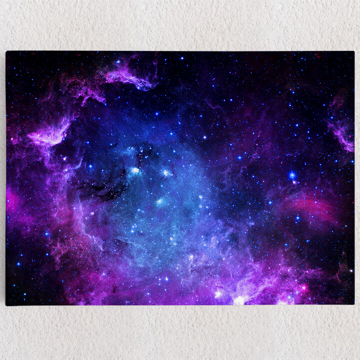 Personalisiertes Leinwandbild Sternenfeld