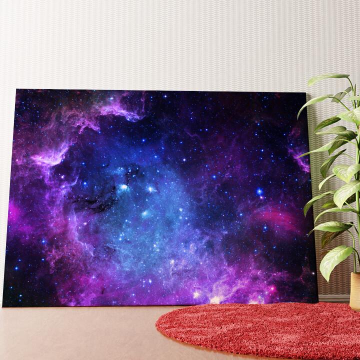 Personalisiertes Wandbild Sternenfeld