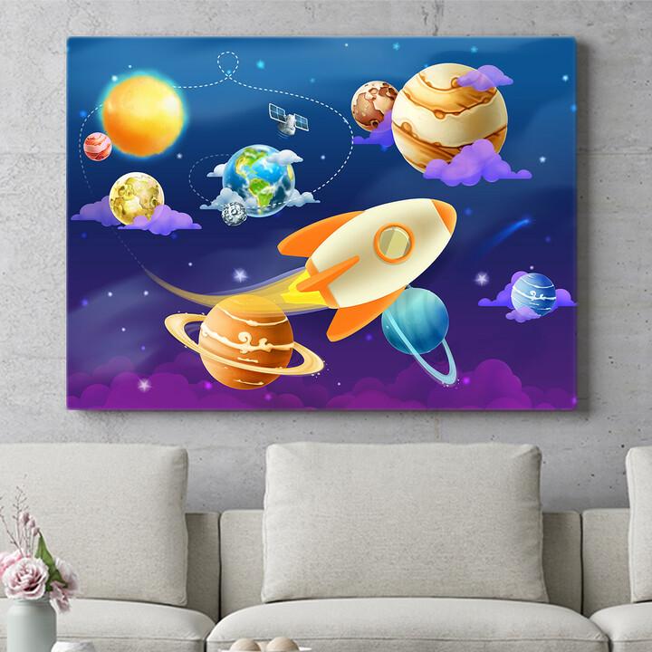 Personalisierbares Geschenk Cartoon Planetensystem