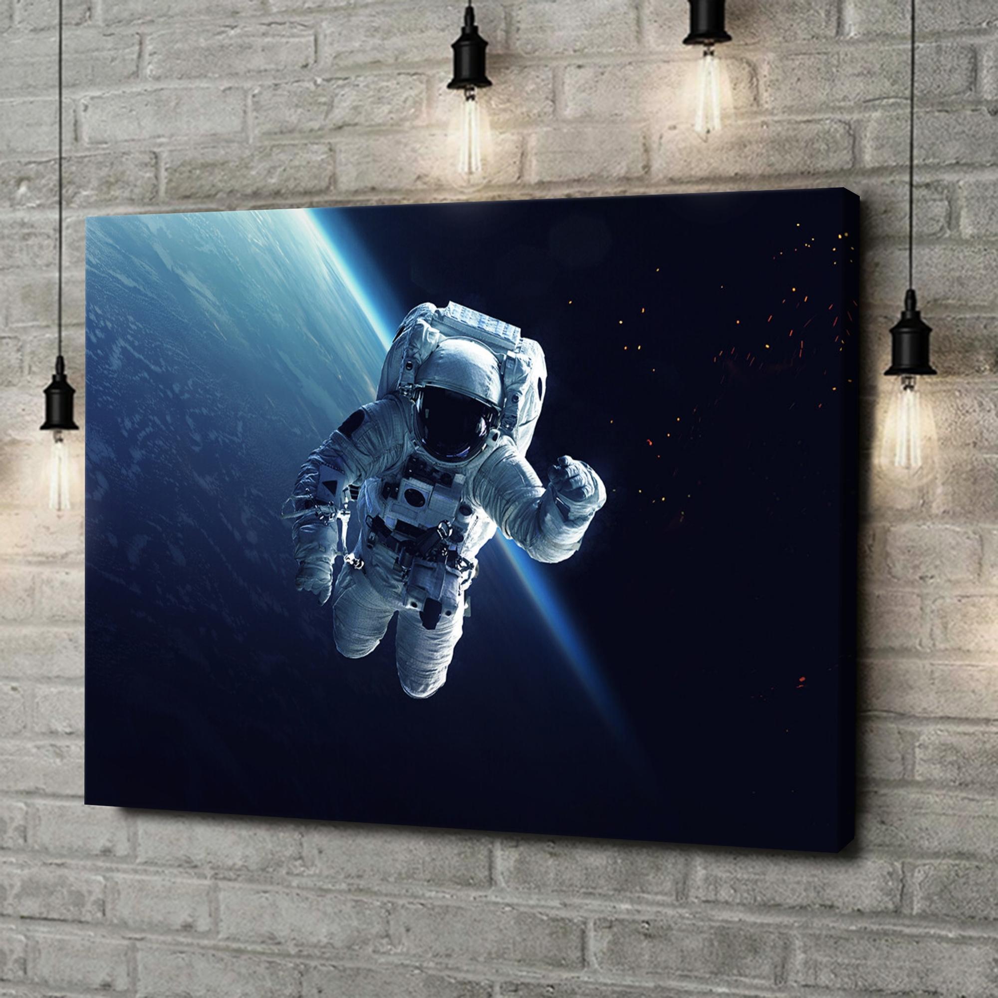 Leinwandbild personalisiert Weltraumspaziergang