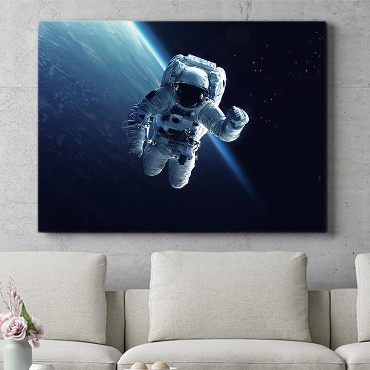 Personalisierbares Geschenk Weltraumspaziergang