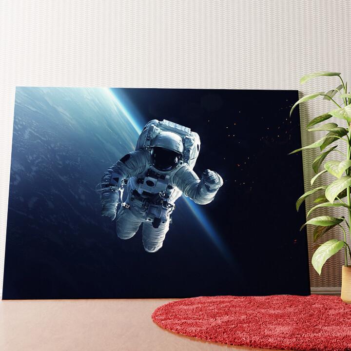 Personalisiertes Wandbild Weltraumspaziergang