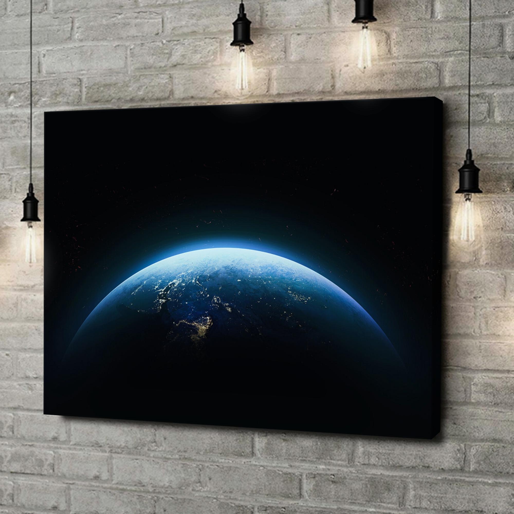 Leinwandbild personalisiert Erde bei Nacht