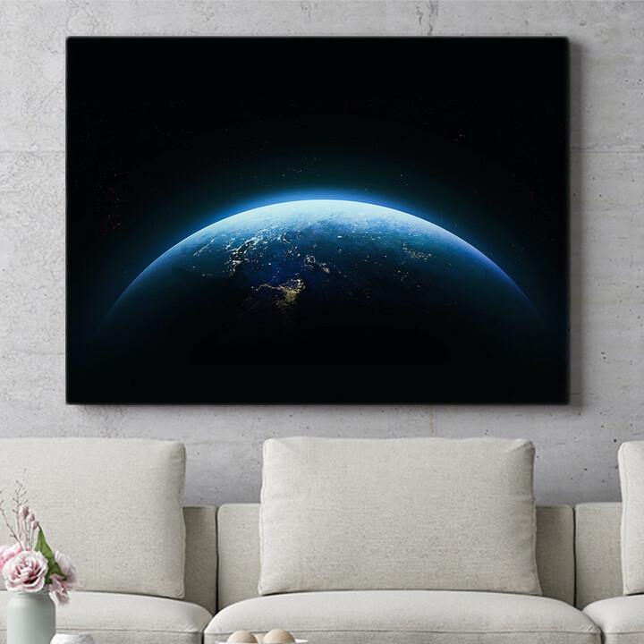 Personalisierbares Geschenk Erde bei Nacht