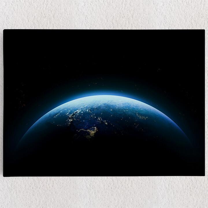 Personalisiertes Leinwandbild Erde bei Nacht