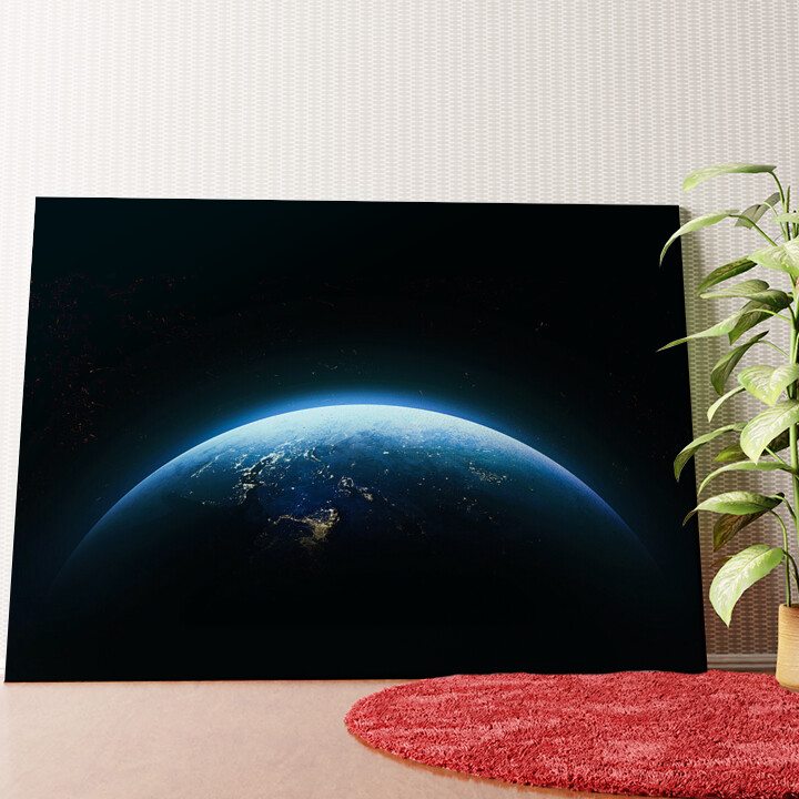 Personalisiertes Wandbild Erde bei Nacht