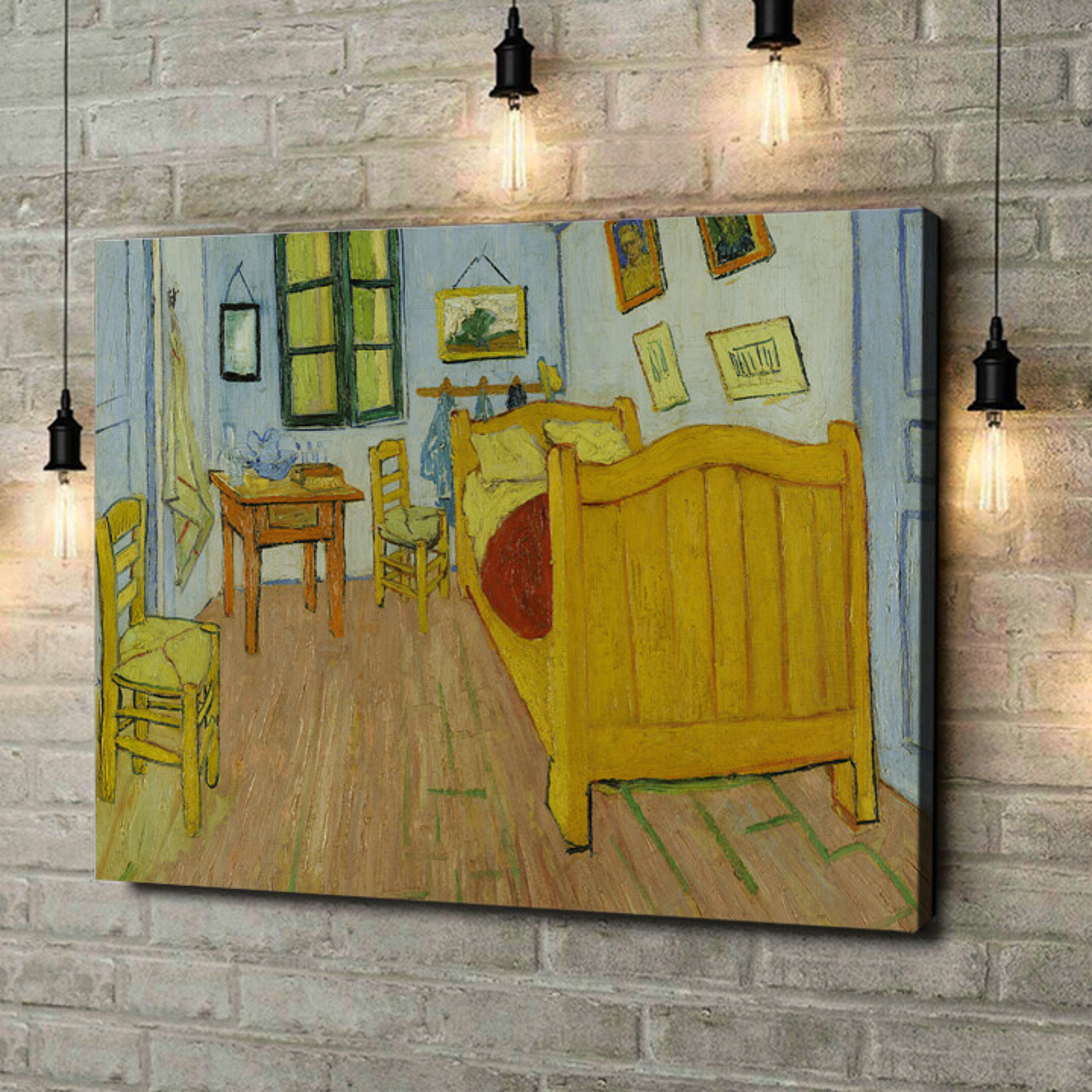 Leinwandbild personalisiert Schlafzimmer in Auvers