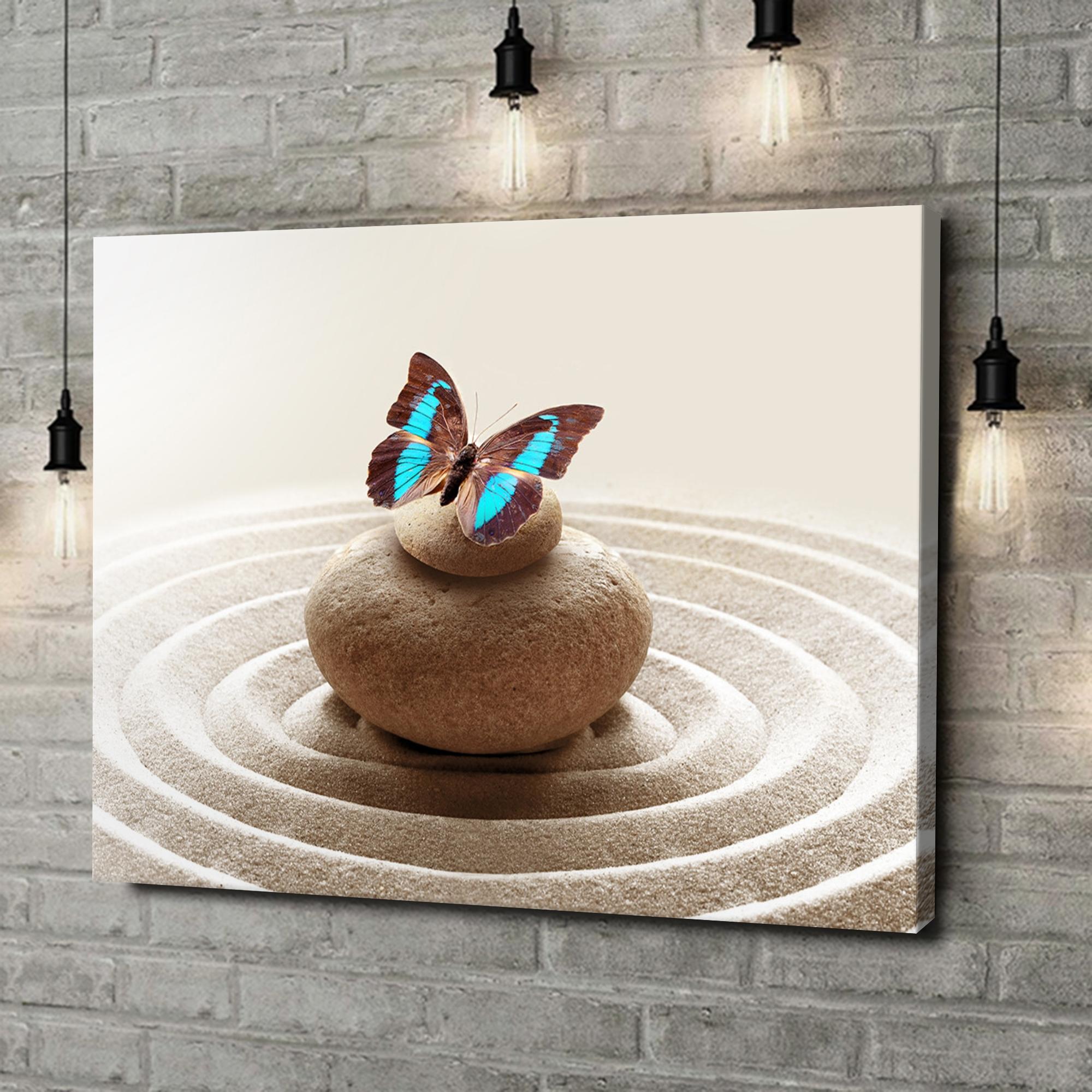 Leinwandbild personalisiert Harmonische Zen Steine