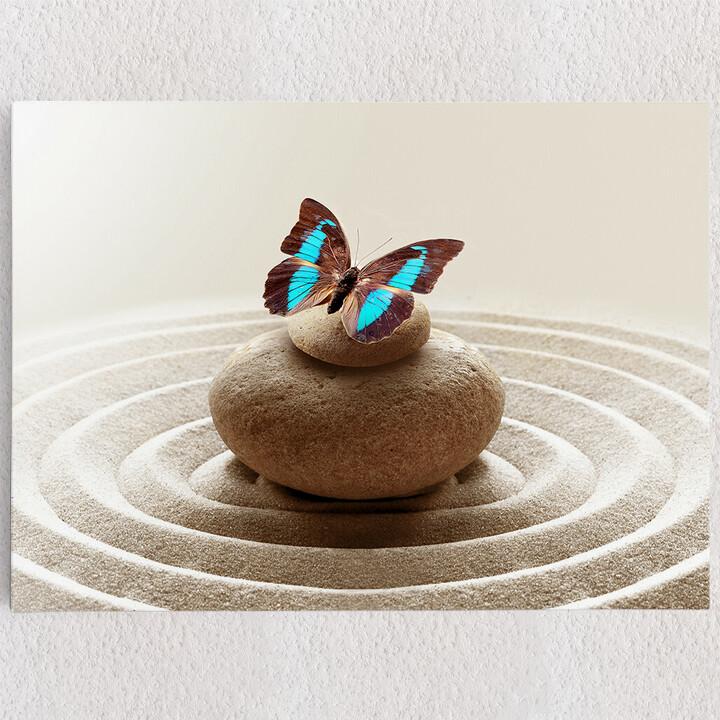 Personalisiertes Leinwandbild Harmonische Zen Steine