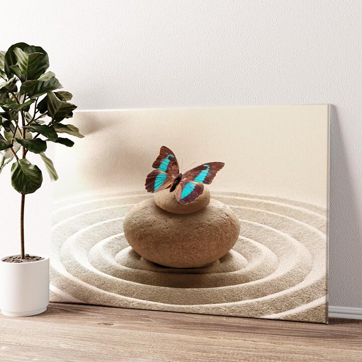 Harmonische Zen Steine Wandbild personalisiert