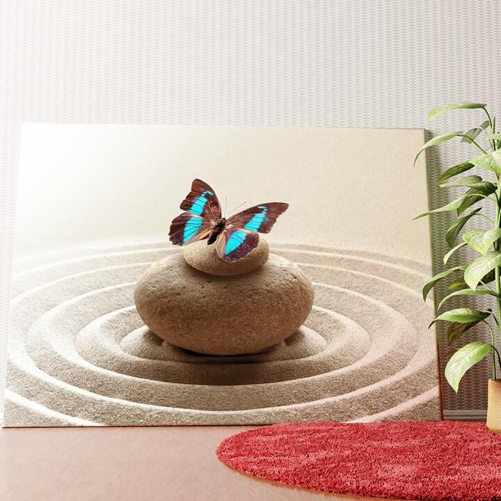 Personalisiertes Wandbild Harmonische Zen Steine