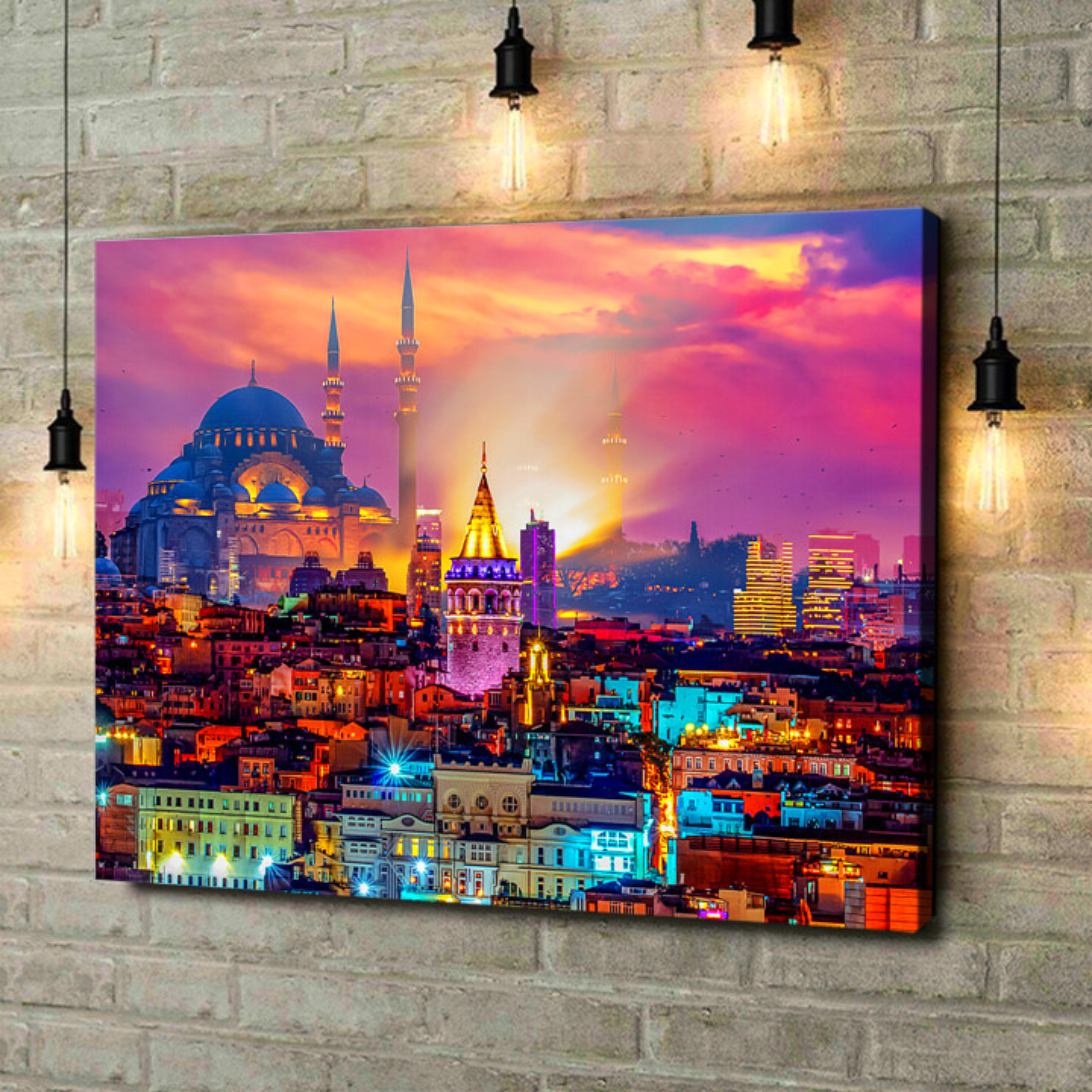 Leinwandbild personalisiert Istanbul Skyline