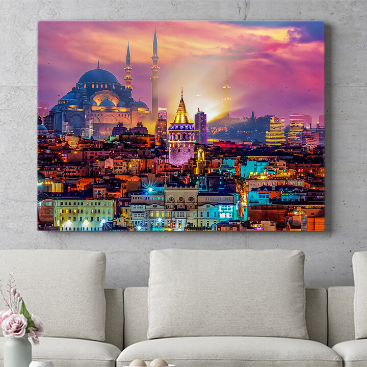 Personalisierbares Geschenk Istanbul Skyline