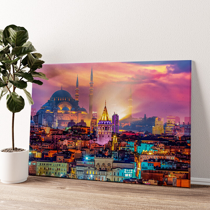 Istanbul Skyline Wandbild personalisiert