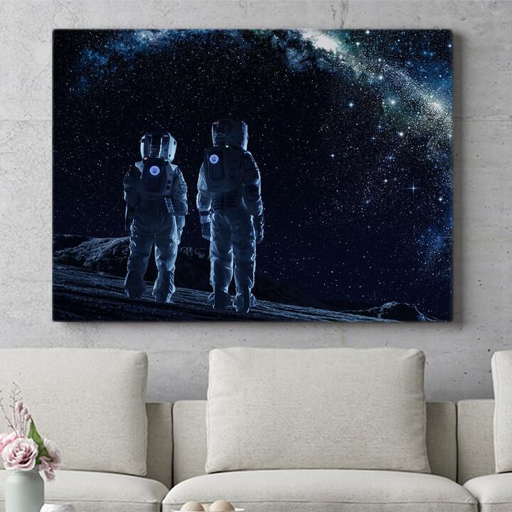 Personalisierbares Geschenk Zwei Astronauten