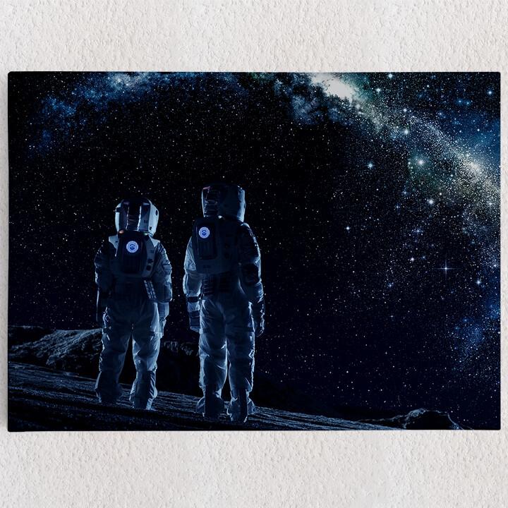 Personalisiertes Leinwandbild Zwei Astronauten
