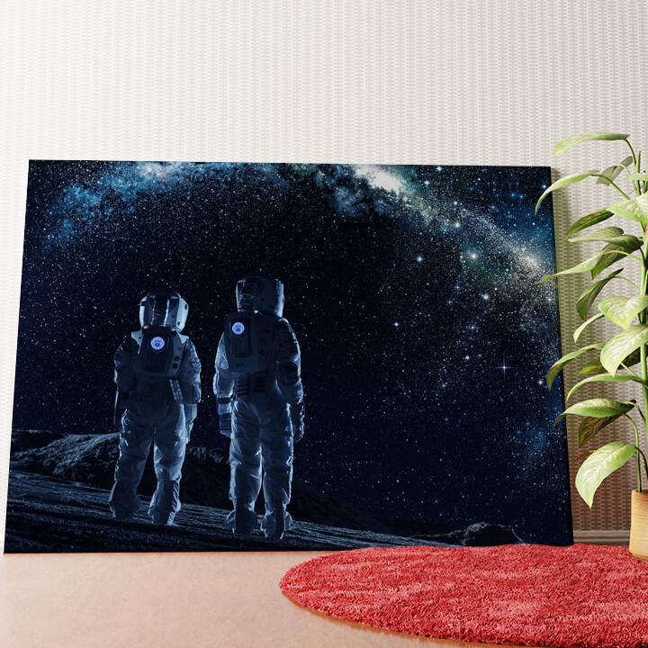 Personalisiertes Wandbild Zwei Astronauten