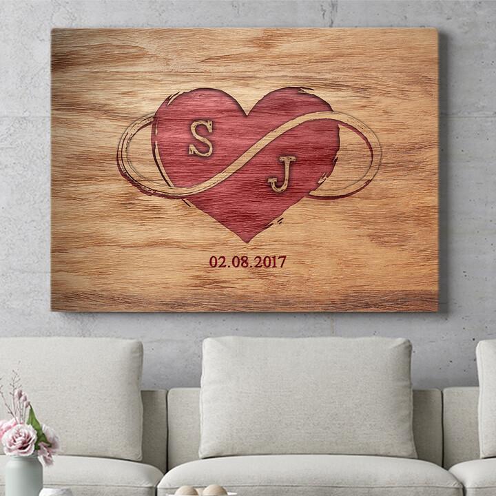 Personalisierbares Geschenk Graviertes Herz