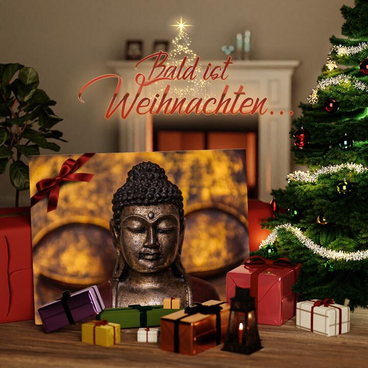 Liebesleinwand zu Weichnachten Buddha