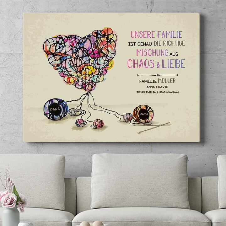 Personalisierbares Geschenk Strickmuster für Liebe