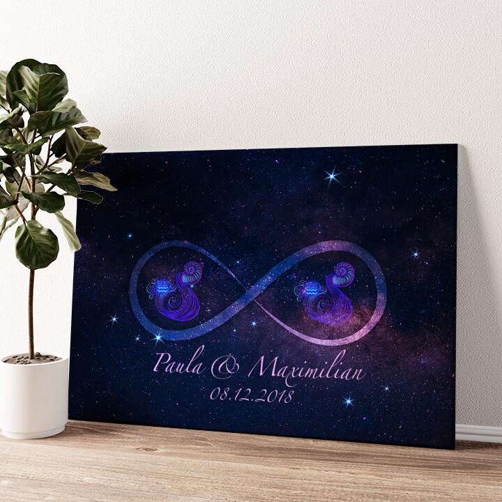 Sterne der Ewigkeit Wandbild personalisiert