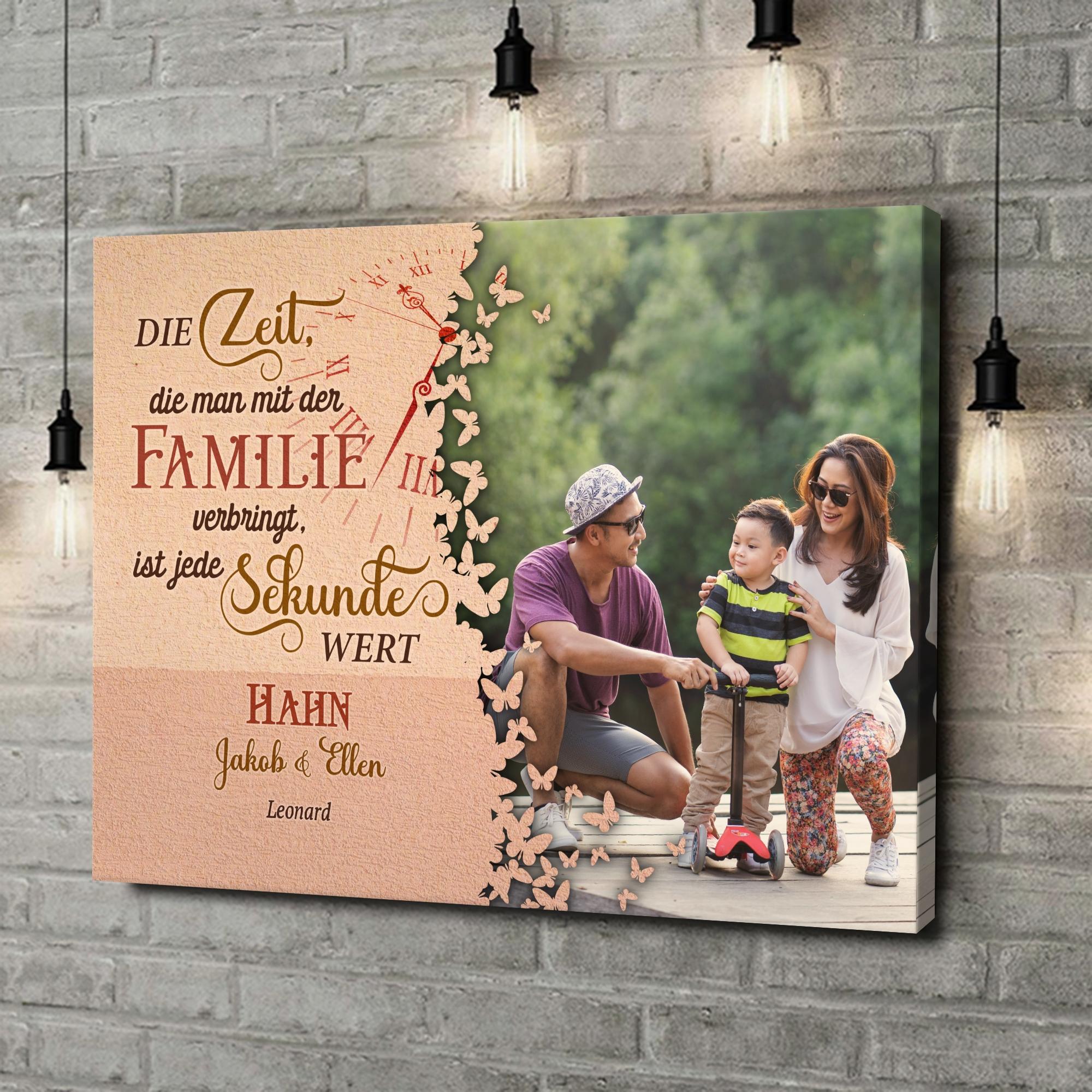 Leinwandbild personalisiert Zeit der Familie